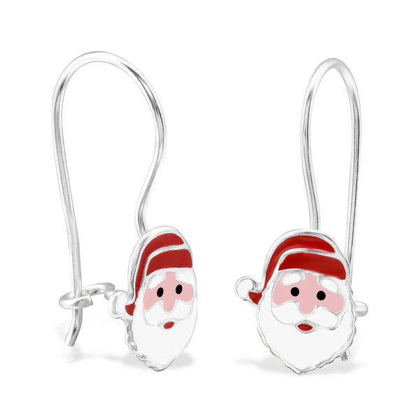 childrens-silver-santa-claus-earrings-with-epoxy-and-epoxy-color
