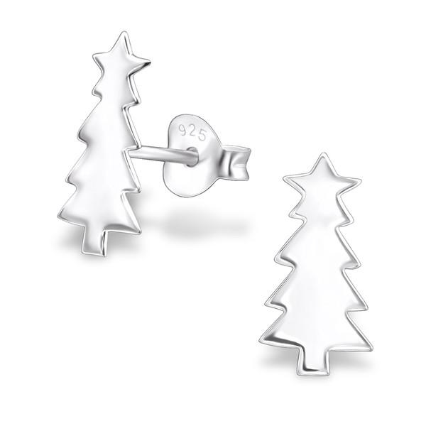 silver-christmas-tree-ear-studs