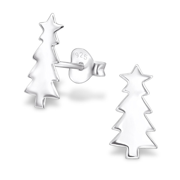 silver-christmas-tree-ear-studs