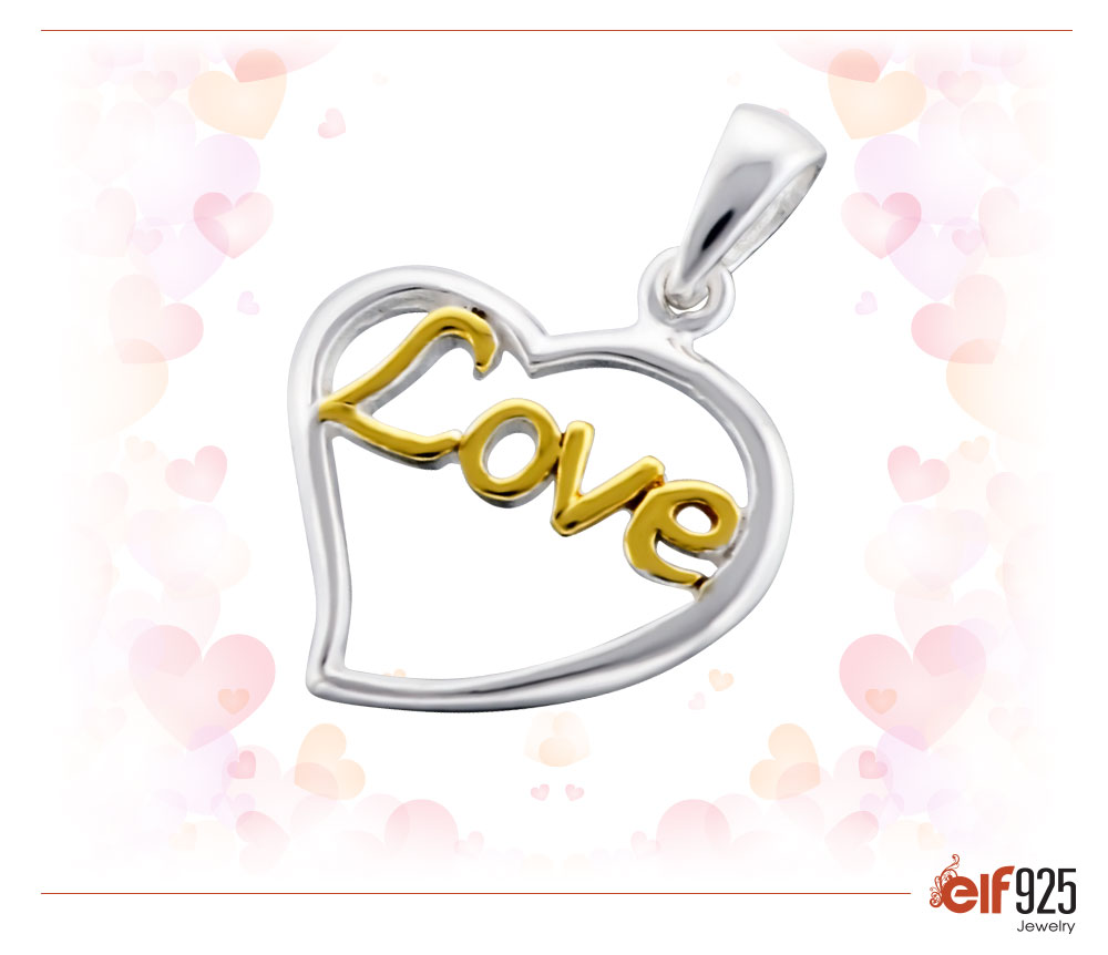 Photo of Sterling Silver Jewelry Love Pendant