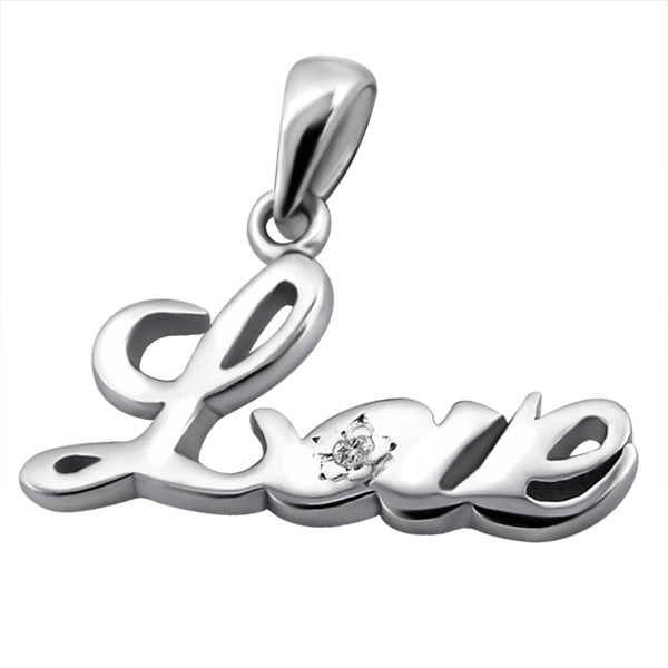 silver-love-with-real-diamond-pendant