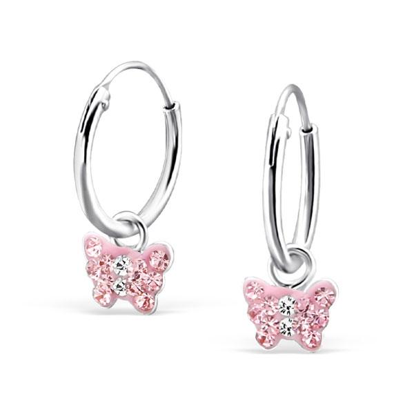 wholesale-kids-silver-crystal-butterfly-earrings