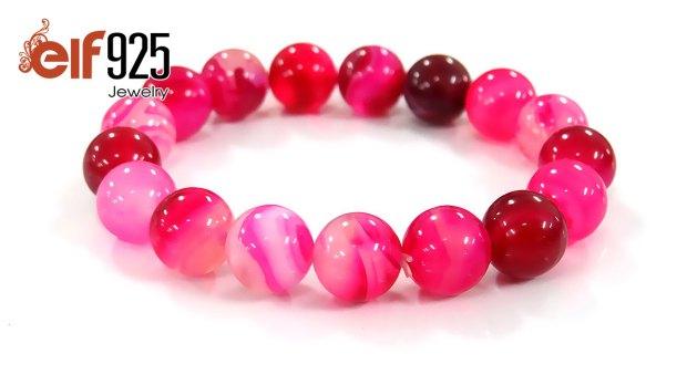 Natural rose agate bracelet wholesale