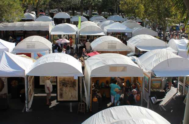 Tents with jewelry vendors