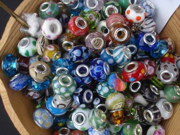 Big choice of beads, ready for selling