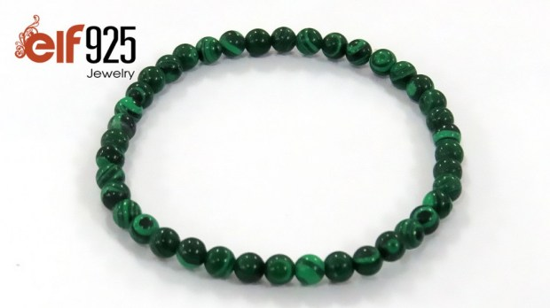 Malachite natural gemstone bracelet by ELF925