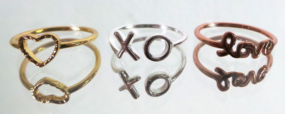 Midi Rings Wholesale. Perfect for Valentine's Day