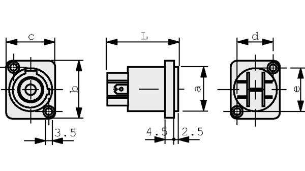 NAC3MPB1 Appliance connectors PowerCon PowerCon® Poles=3