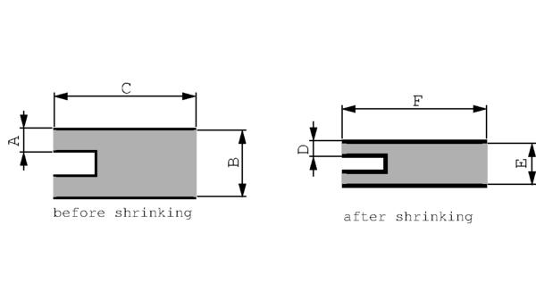 2232B8W POX BK Varmekrympende forgreningshetter 175 mm