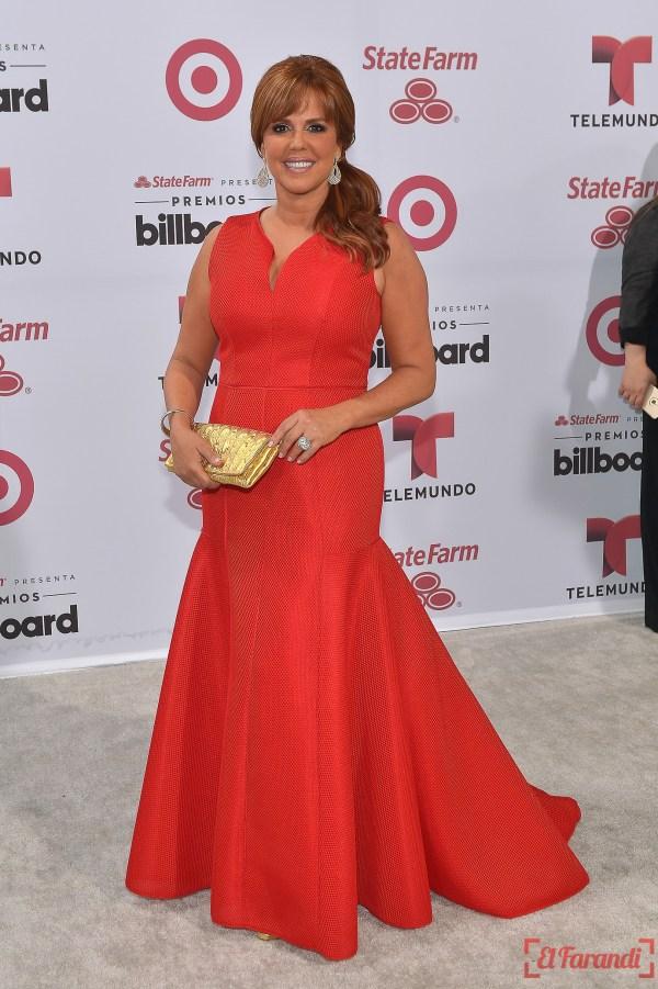 MIAMI, FL - APRIL 30: Maria Celeste Arraras arrives at 2015 Billboard Latin Music Awards presented bu State Farm on Telemundo at Bank United Center on April 30, 2015 in Miami, Florida.   Rodrigo Varela/Getty Images/AFP