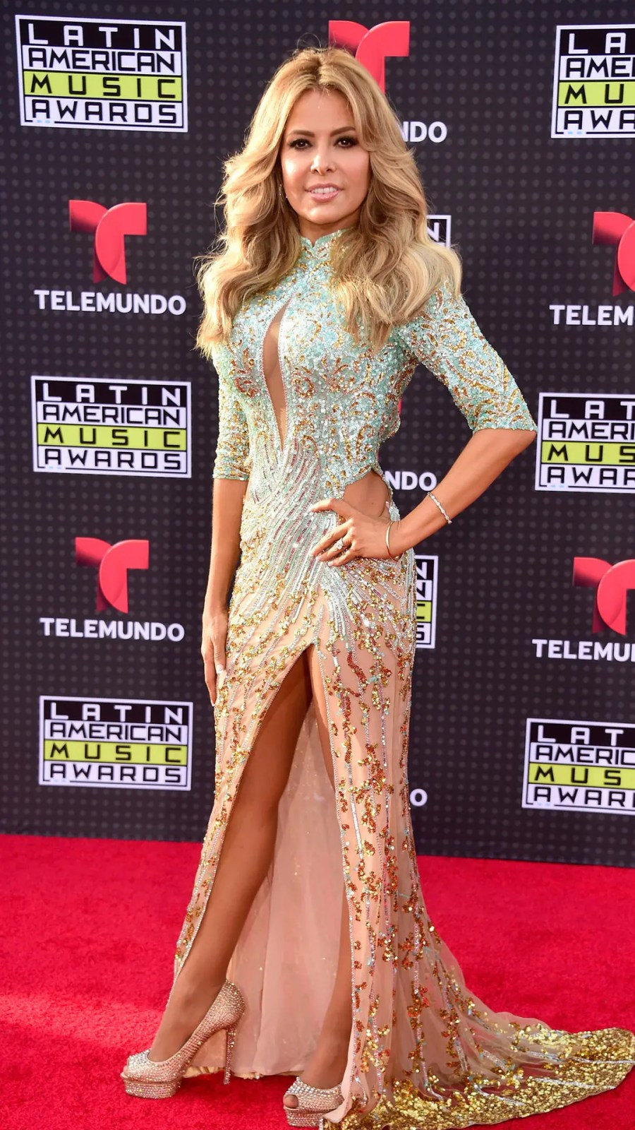HOLLYWOOD, CA - OCTOBER 08: Singer Gloria Trevi attends Telemundo's Latin American Music Awards at the Dolby Theatre on October 8, 2015 in Hollywood, California. (Photo by Frazer Harrison/Getty Images)