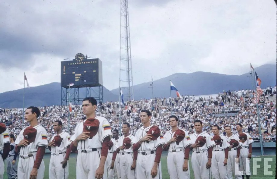 .XIV Campeonato Mundial de Béisbol Amateur en el Estadio Universitario.