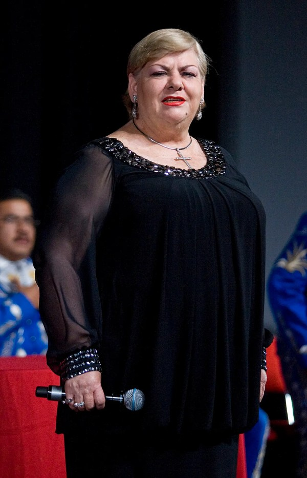 MEXICO CITY, MEXICO - NOVEMBER 24:  Press conference with Mexican singer Paquita la del Barrio at the Teatro Blanquita on 24 november, 2011 in Mexico City, Mexico. (Photo by Angel Delgado/Clasos.com/LatinContent/Getty Images)