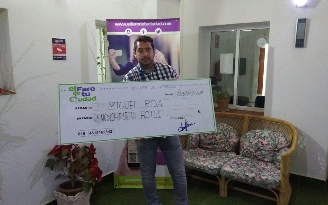 Miguel Roa gana el sorteo de 2 noches de hotel para dos personas