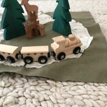 Eisenbahn DIY, Eisenbahn zum mitnehmen , Eisebnahn aus Holz, Eisenbahn