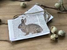 Anleitung für Vintage Osterkarten mit Hasenmotiv, diese hübsche Karte wird mit Sicherheit den Beschenkten mit viel Freude erfüllen! Sie schnell gemacht und es gibt noch weiter schöne Anleitungen zum Thema Ostern, auf www.elfenkindberlin.de