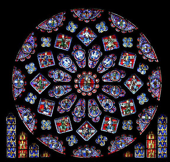 La rosa nord nella cattedrale di Notre-Dame
