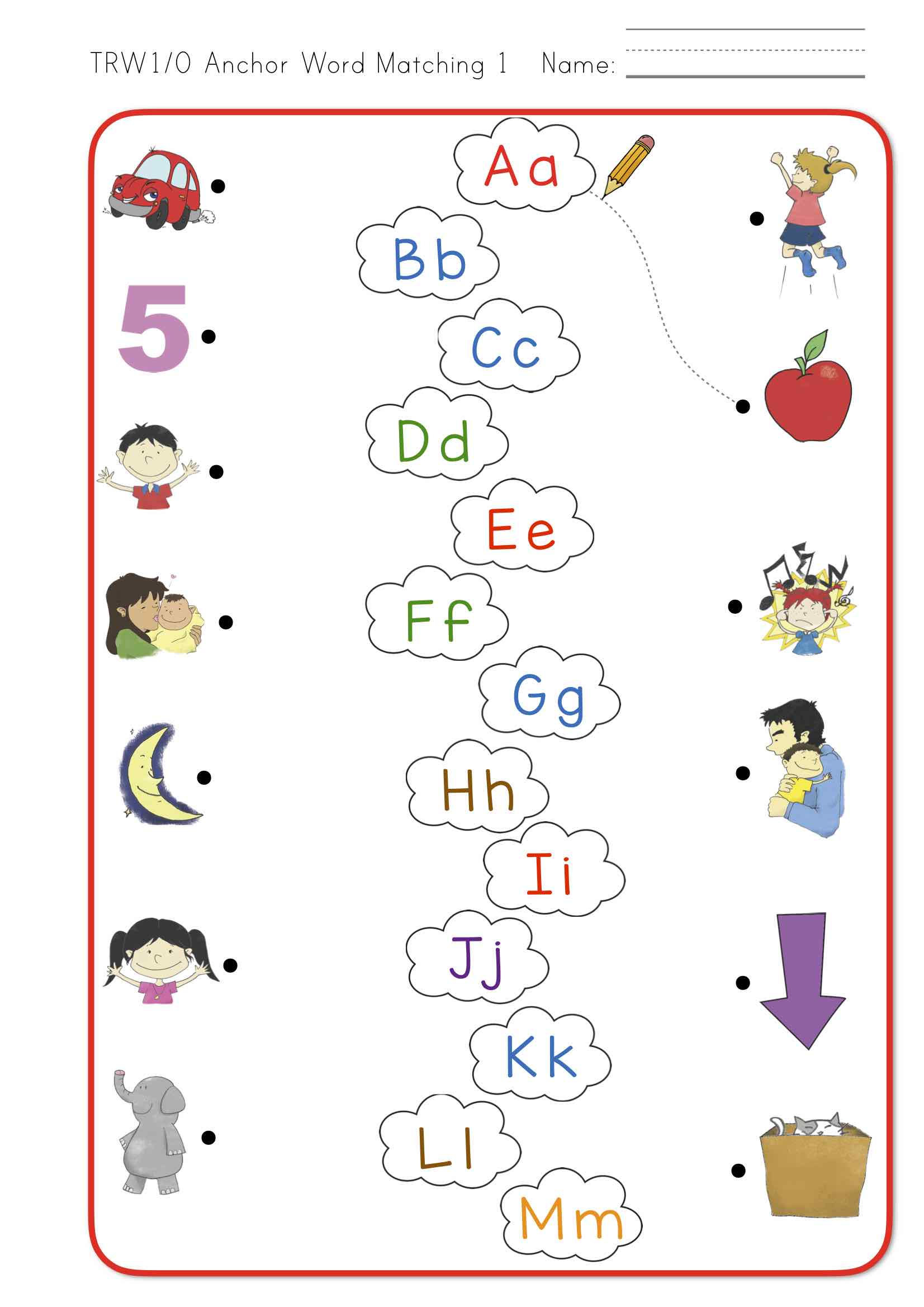 Letter Word Matching Worksheet