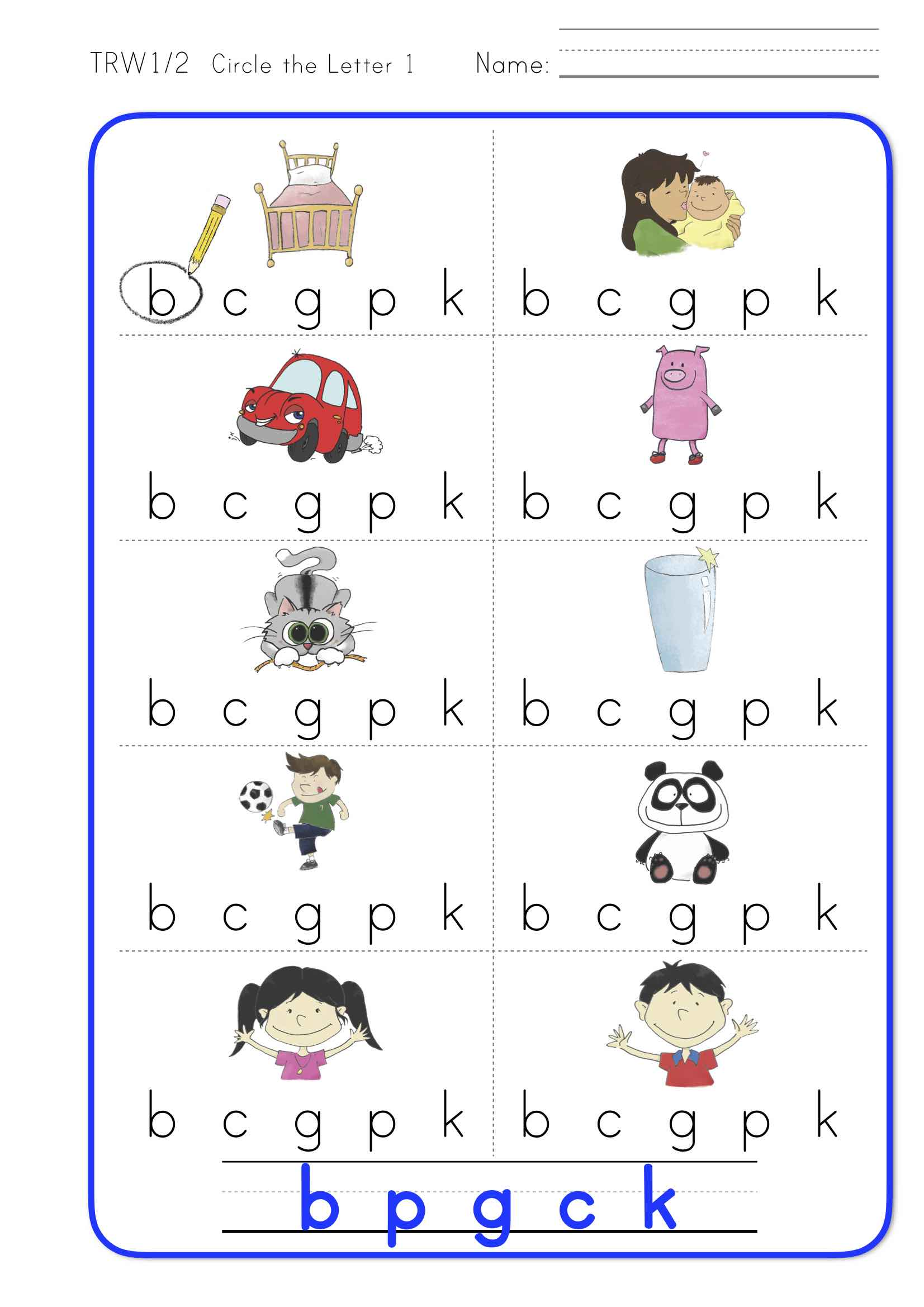 Think Read Write 1 Worksheet Pack