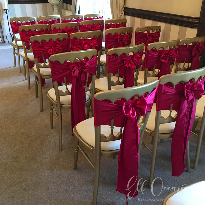 burgundy chair covers wedding teak dining chairs cover hire in essex elf occasions venue styling a small sample of some our decoration can be seen below for an option that is perfect you please contact us