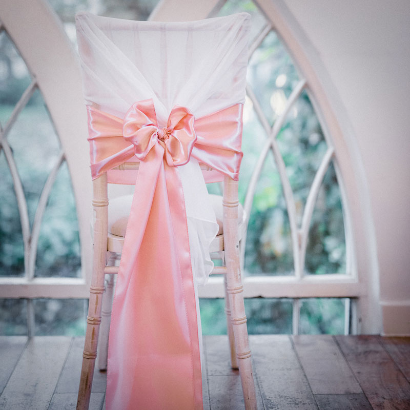 blush chair sashes uk padded folding chairs white hoods with pink sash elfoccasions co