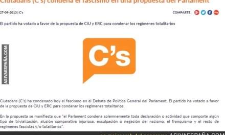 Ciudadanos no condena el Franquismo. MENTIRA