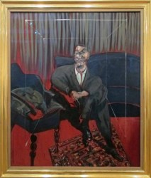 "Photograph of ""Seated figure"" (1961) by Francis Bacon"