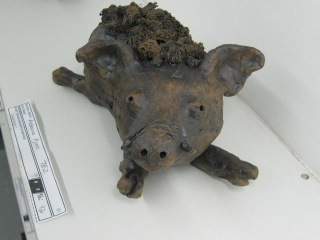 "Photo of ""Boar"" sculpture by Rebecca (13yo)"