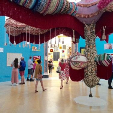 A sculpture called Royal Valkyrie by Joana Vasconcelos