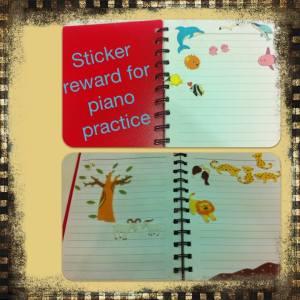 sticker reward for piano practice