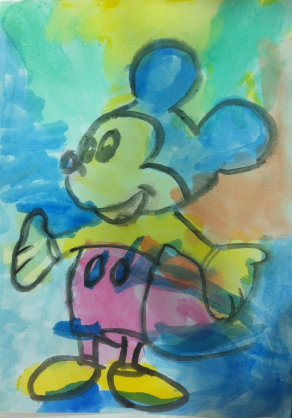 mickey mouse gar painting