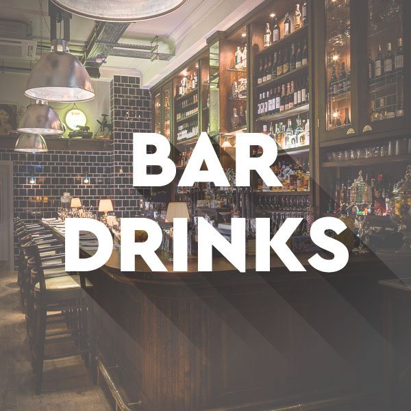 Bar drinks at El Gato Negro