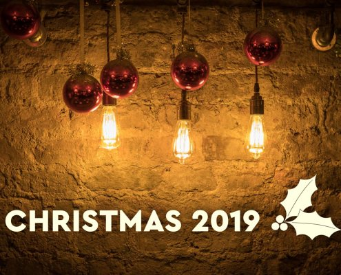Christmas 2019 decorations at El Gato Negro