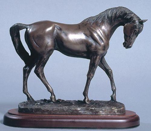 bronze pur-sang trophee