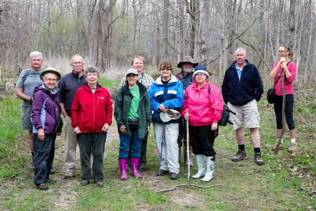 Group from West Elgin Nature Club and our club heading to bluebells in early May.