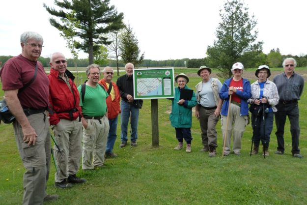 Group at start of Dutton/Dunwich Trans Canada Trail End-to-end.