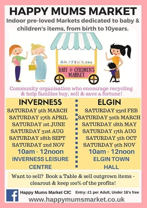 On Saturday 30th March we host The Happy Mums Market. Details below
