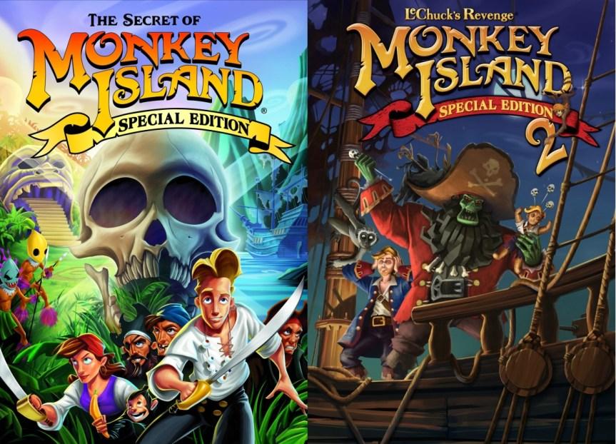 """Carátulas de la saga """"Monkey Island"""""""
