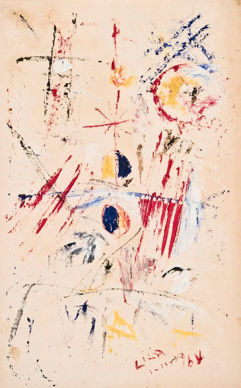 Juego con líneas y colores (E. Lisa 1964)