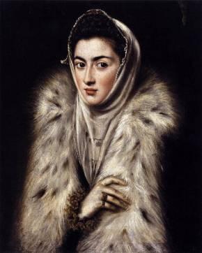 El Greco's Lady in a Fur Wrap