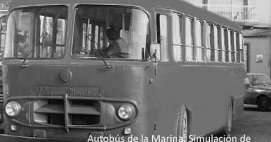 El coche de la marina. Autobús de marina en San Fernando