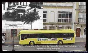 El Canario. Dos épocas. Fotografía de los vehículos antiguos de autor desconocido. Fotografía en San Fernando de www.elguichidecarlos.com