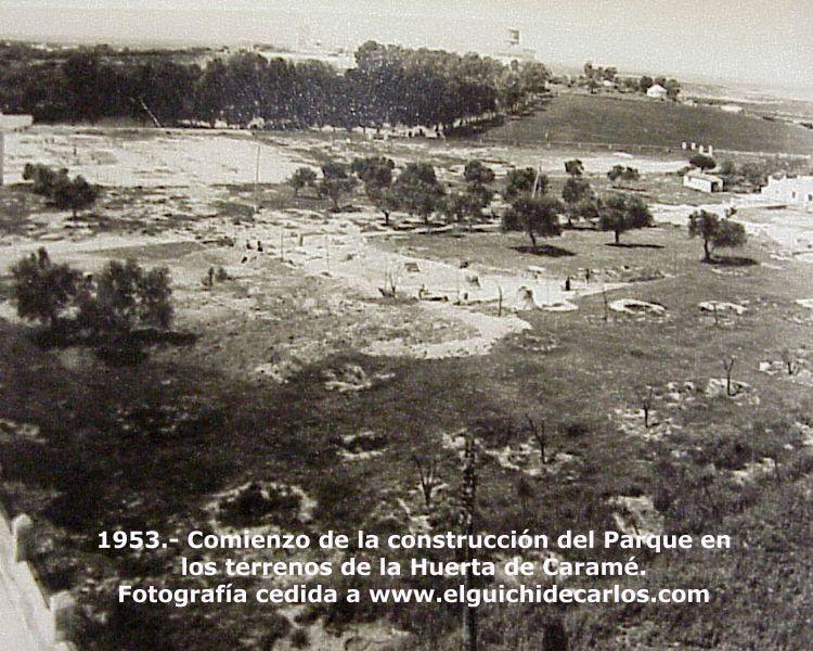 Parque de los Patos, cuando comenzo su construcción por 1953