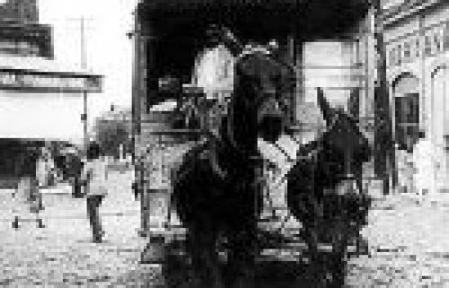 1911 tranvía en San Salvador.