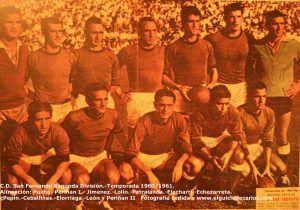 Temporada 1960/1961 C.D. San Fernando en Segunda División. Fotografía cedida por Francisco Miranda Sánchez a www.elguichidecarlos.com