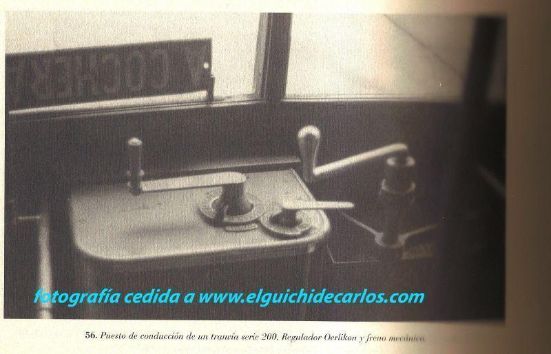 Puesto de conducción de un tranvía. Fotografía cedida a www.elguichidecarlos.com