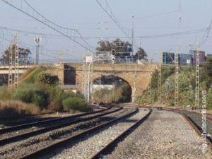 Puente de la Casería derribado.