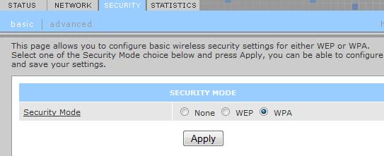 parametros WPA/WPA2