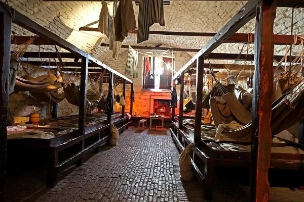 Alojamento dos prisioneiros na época das guerras napoleônicas