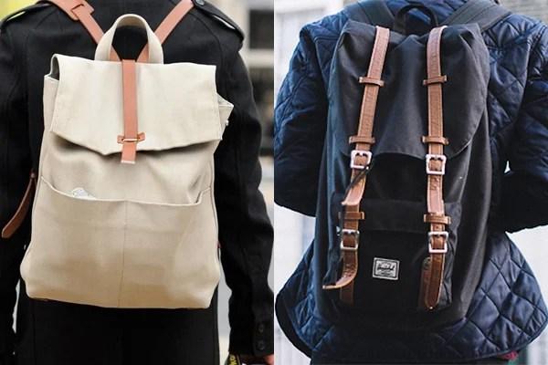 56599db0106a4 As mochilas masculinas de lona ou sintéticas também estão super em alta.  Elas trazem aquela visual rústico urbano que fica show de bola. Se você não  ...